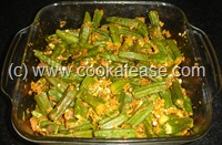Okra_Fry_microwave_cooking