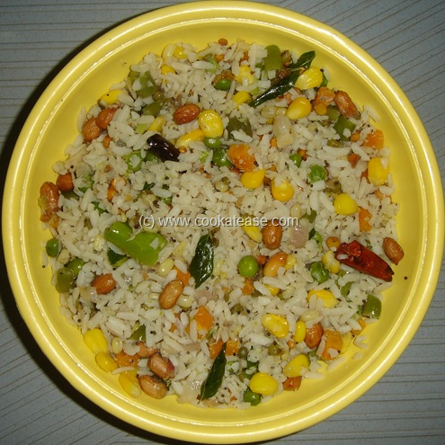 Vegetable Aval (Poha) Upma